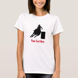 Barril del rodeo que compite con la silueta camiseta