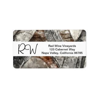 Barriles de vino de la acuarela para un boda del etiqueta de dirección