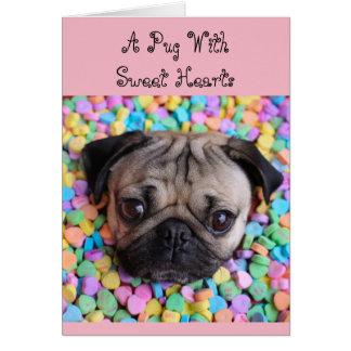 Barro amasado con los amores tarjeta de felicitación