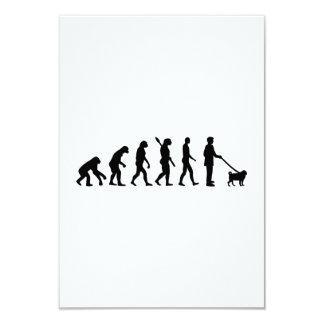 Barro amasado de la evolución invitación 8,9 x 12,7 cm