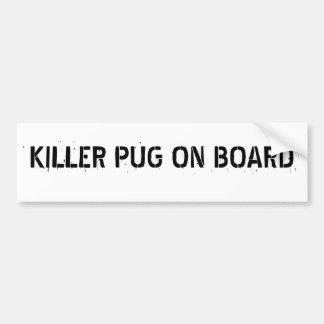 Barro amasado del asesino a bordo pegatina para el pegatina para coche