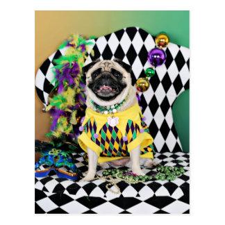 Barro amasado del carnaval 2015 de Pugsgiving - Postal