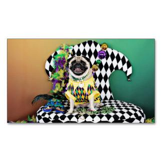 Barro amasado del carnaval 2015 de Pugsgiving - Tarjetas De Visita Magnéticas (paquete De 25)