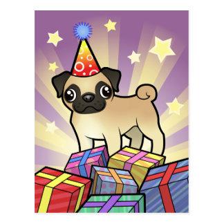 Barro amasado del cumpleaños tarjetas postales