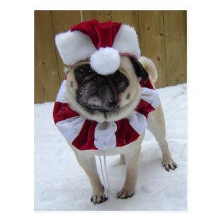 Barro amasado del día de fiesta del navidad en postal
