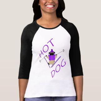 Barro amasado del esquí del perrito caliente camiseta