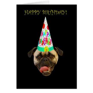 Barro amasado del feliz cumpleaños con el gorra tarjeta de felicitación