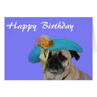 Barro amasado del feliz cumpleaños en un gorra tarjeta de felicitación