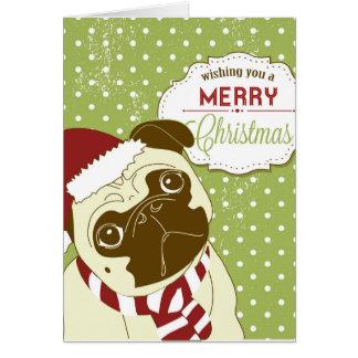 Barro amasado del navidad tarjeta de felicitación