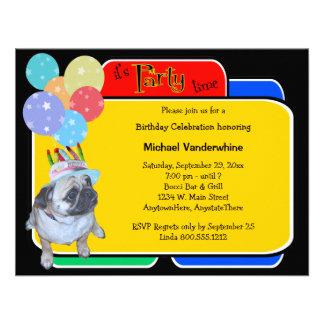 Barro amasado en un cumpleaños Barker del gorra de Invitaciones Personalizada