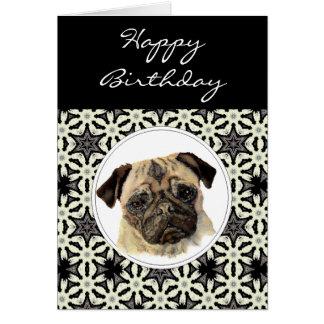 Barro amasado general del cumpleaños, perro casero tarjeta de felicitación
