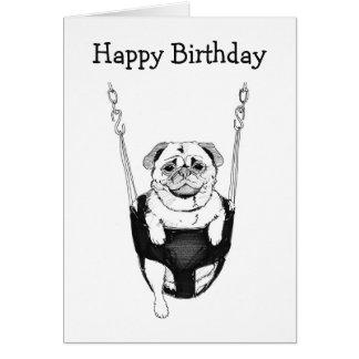Barro amasado simple del feliz cumpleaños en tarjeta de felicitación