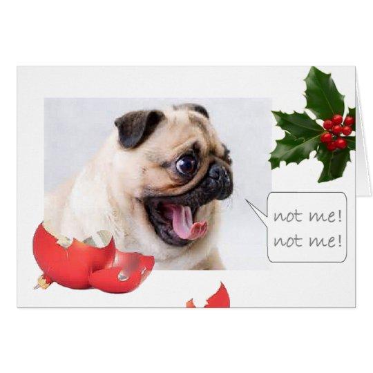 Barro amasado travieso del navidad tarjeta de felicitación