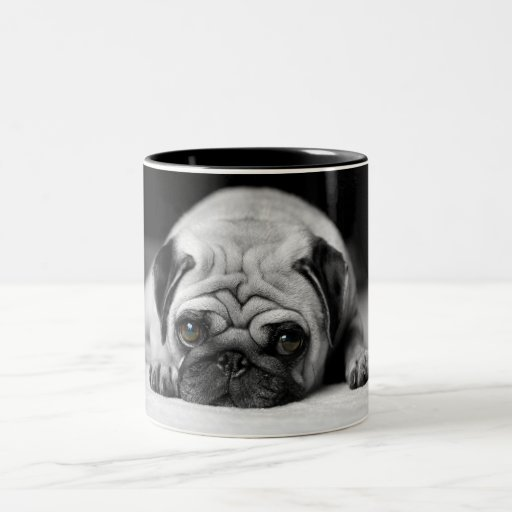 Barro amasado triste taza de café