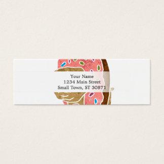 barro amasado y buñuelo tarjeta de visita pequeña