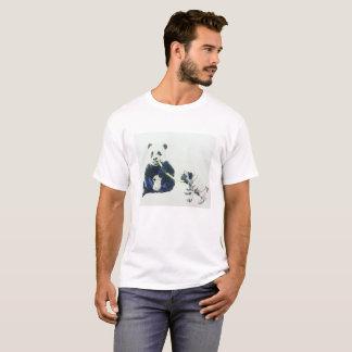 Barro amasado y panda camiseta