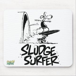 Barro que practica surf para siempre Mousepad Alfombrilla De Ratón