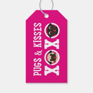 Barros amasados y negro de los besos XOXO y barros Etiquetas Para Regalos