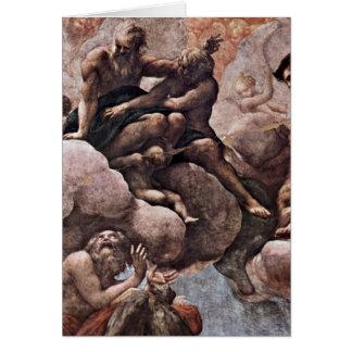 Bartholomew y Matías de Antonio DA Correggio Tarjetón