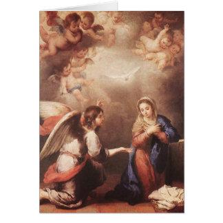 Bartolome Murillo - el Anunciation Tarjeta