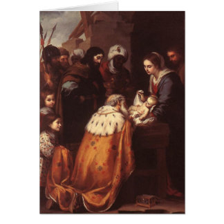 Bartolome Murillo - la adoración de la CROMATOGRAF Felicitación