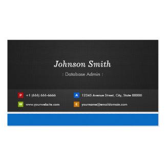 Base de datos Admin - Personalizable profesional Tarjetas De Visita