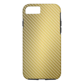 Base de la fibra del oro funda iPhone 7