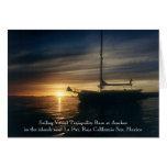 Base de la tranquilidad del velero en el ancla tarjeta