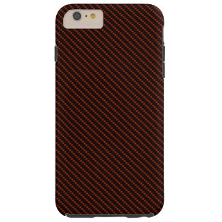 Base roja y negra de la fibra funda resistente iPhone 6 plus