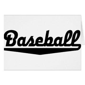 baseball tarjeta