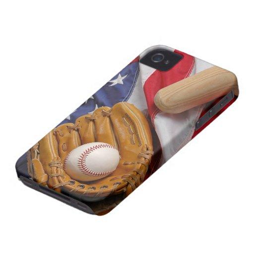 Baseball USA Case-Mate iPhone 4 Cobertura