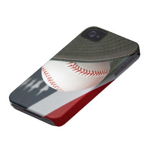 Baseball USA iPhone 4 Carcasas