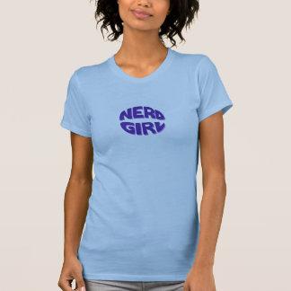 Básico púrpura del chica del empollón camiseta