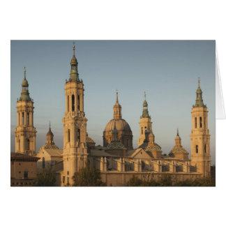 Basilica de Nuestra Senora de Pilar, el río Ebro Tarjeta De Felicitación