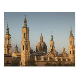 Basilica de Nuestra Senora de Pilar el río Ebro Tarjetas Postales