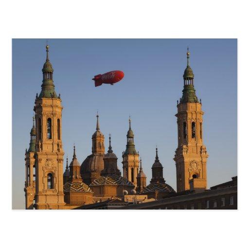Basilica de Nuestra Senora de Pilar, puesta del so Tarjeta Postal