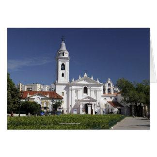 Basílica Nuestra Senora del Pilar en Recoleta 2 Tarjeta De Felicitación