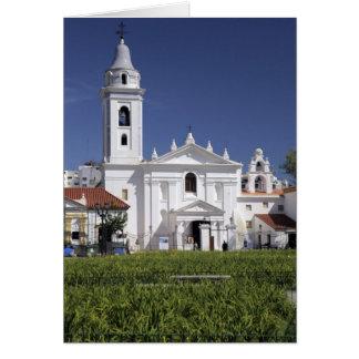 Basílica Nuestra Senora del Pilar en Recoleta Tarjeta De Felicitación