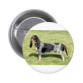 Basset Bleu de Gascogne Dog Chapa Redonda De 5 Cm