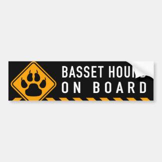 Basset Hound a bordo Pegatina Para Coche