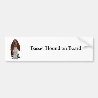 Basset Hound a bordo pegatina para el parachoques  Etiqueta De Parachoque