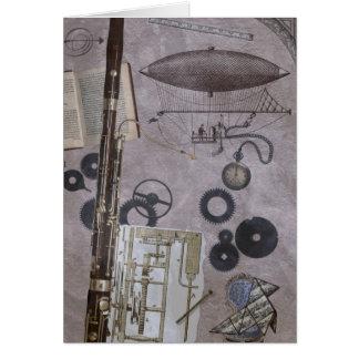 Bassoon o carnaval posterior de Steampunk Tarjeta