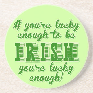 Bastante afortunado ser irlandés posavasos diseño