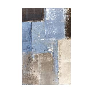 """""""Bastante fácil"""" arte abstracto azul y beige"""