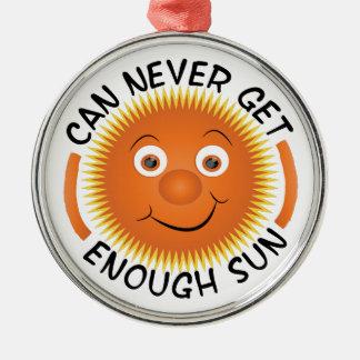 Bastante Sun Adorno Redondo Plateado