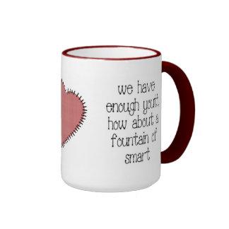 Bastante taza de café de la juventud