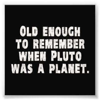 Bastante viejo recordar cuando Plutón era un plane Cojinete