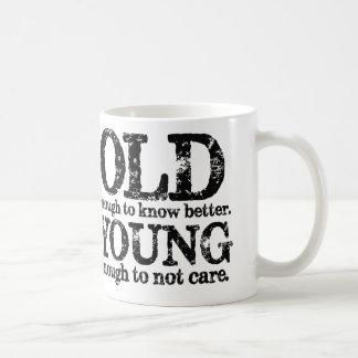 Bastante viejo saber mejores jóvenes bastantes par taza