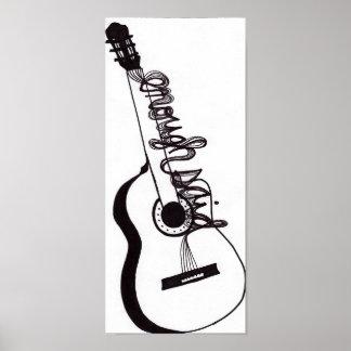 Bastantes dijeron el poster de la guitarra