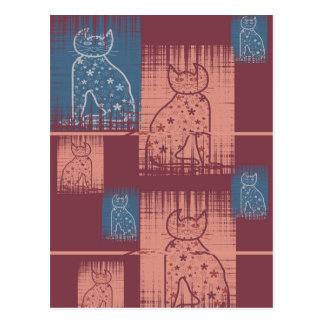 Bastet mitología Cats en pastel colors Postal